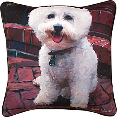 Glam Dog Bichon Throw Pillow