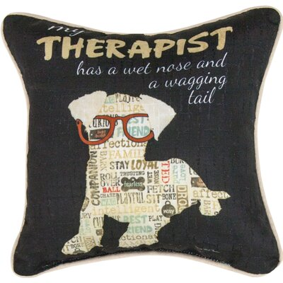 My Therapist Has a Wet Nose Throw Pillow