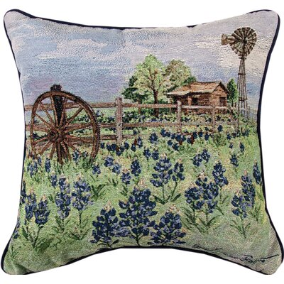 Bluebonnets Beauty Throw Pillow