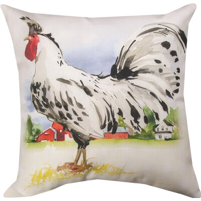 Farmland Rooster Throw Pillow