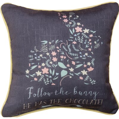 Follow the Bunny - Dye Throw Pillow