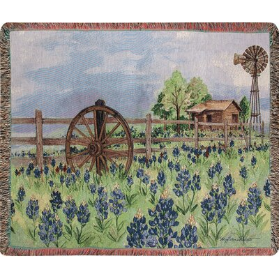 Bluebonnets Beauty Tapestry Cotton Throw