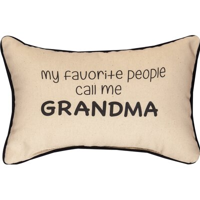 My Favorite People Call Me Grandma Word Cotton Lumbar Pillow