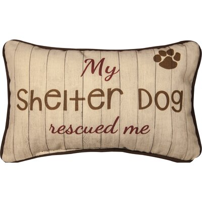 My Shelter Dog Rescued Me Cotton Lumbar Pillow