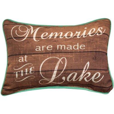 Memories are Made at the Lake - Word Dye Lumbar Pillow