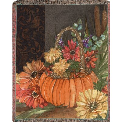 Autumn Tap Tapestry Cotton Throw