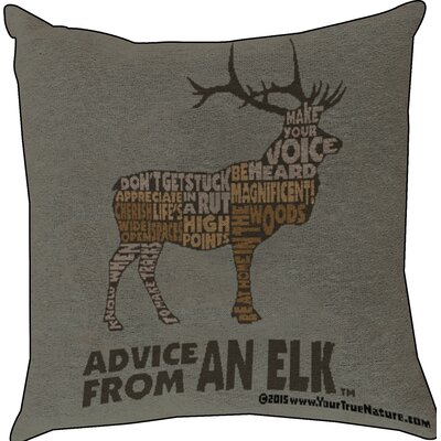 Advice from an Elk Text Throw Pillow