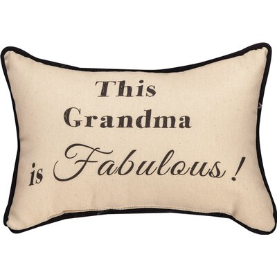 This Grandma is Fabulous Word Cotton Lumbar Pillow