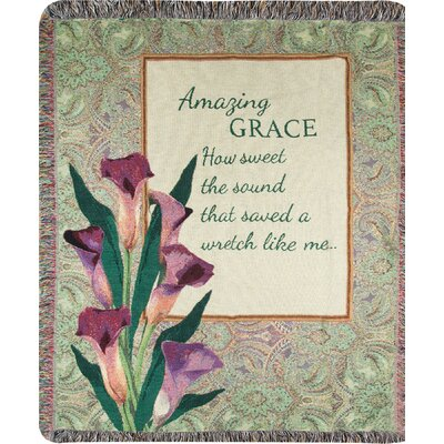Amazing Grace How? Sound Tapestry Cotton Throw