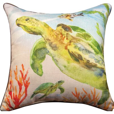 Sea Turtles - Due Throw Pillow