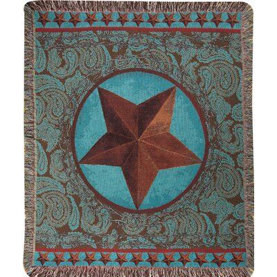 Western Star Tapestry Cotton Throw