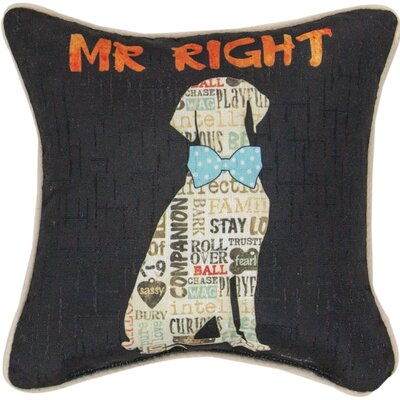 Mr. Right Dye Throw Pillow