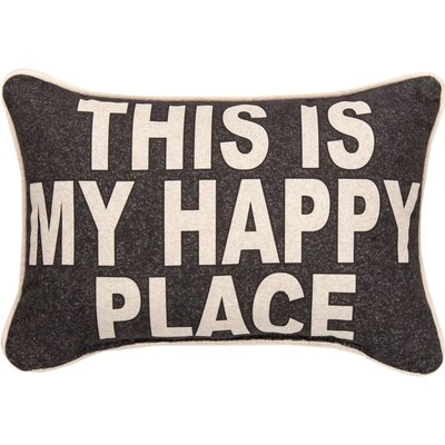This is My Happy Place Cotton Lumbar Pillow