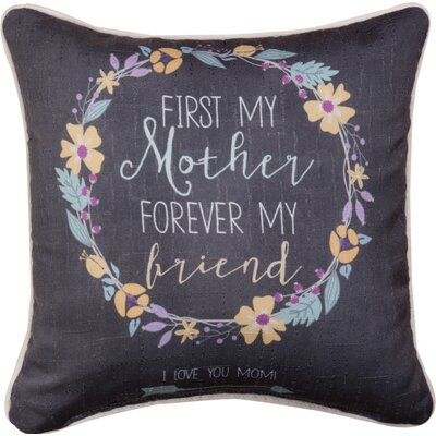 Mother First Dye Throw Pillow