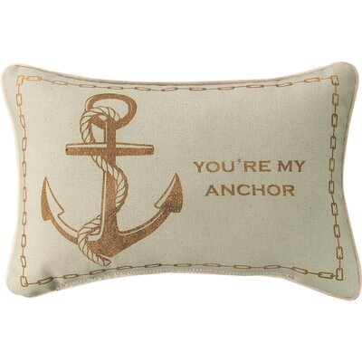 Youre My Anchor Cotton Lumbar Pillow