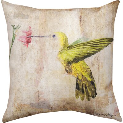 Hummingbird Floral III Throw Pillow