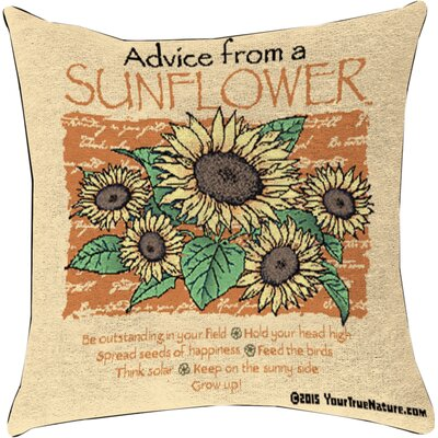Advice from a Sunflower Throw Pillow