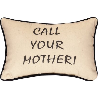 Call Your Mother Cotton Lumbar Pillow