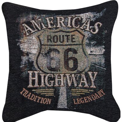 Americas Highway  Throw Pillow