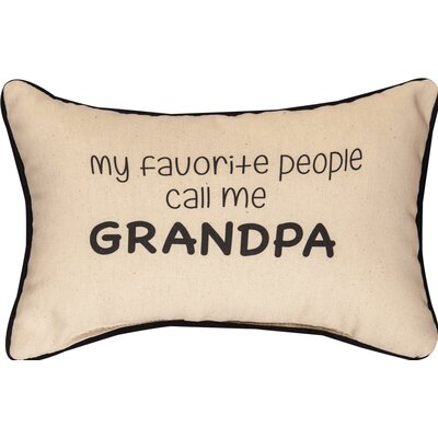 My Favorite People Call Me Grandpa Cotton Lumbar Pillow