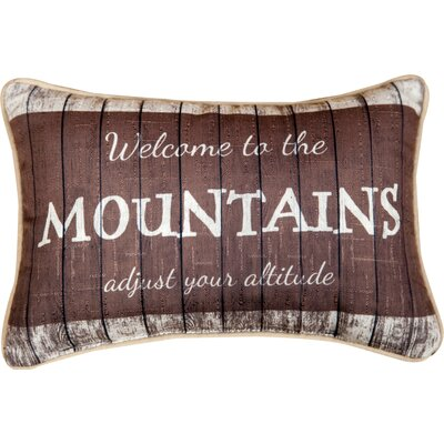 Welcome to the Mountains Lumbar Pillow