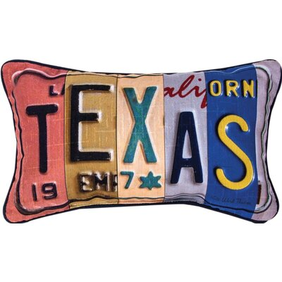 Texas - Word Dye Lumbar Pillow