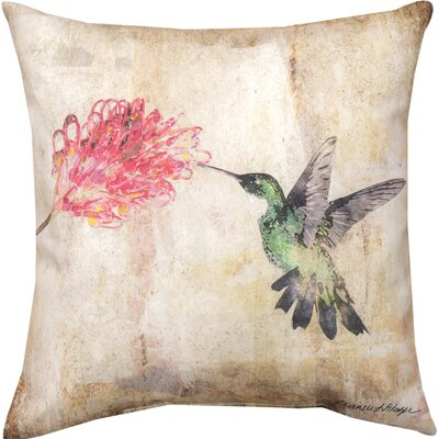 Hummingbird Floral II Throw Pillow