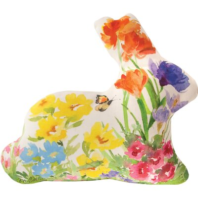 Garden Bunny - Shaped Dye Throw Pillow
