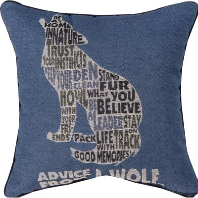 Advice from a Wolf Text Throw Pillow
