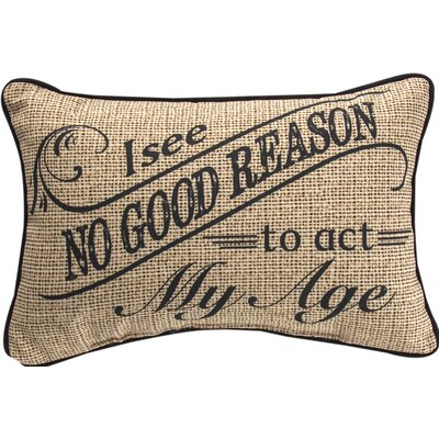 I See No Good Reason... Word Cotton Lumbar Pillow