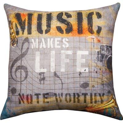 Music Makes Life...Rec Dye Throw Pillow