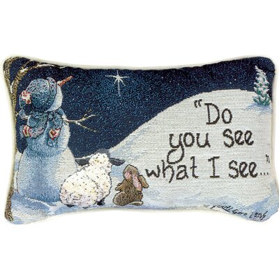 Do You See What I See - Evans Word Lumbar Pillow