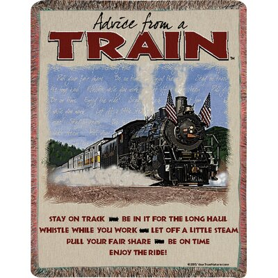 Advice from a Train Text Tapestry Cotton Throw