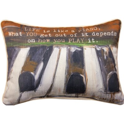 Life is Like a Piano - Rect Dye Lumbar Pillow