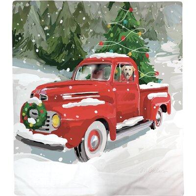 Holiday Drive Fleece Throw