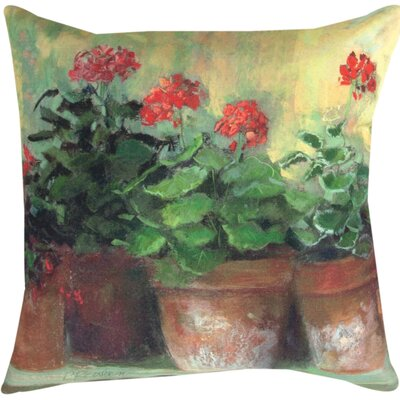 Kathleens Geraniums II Throw Pillow