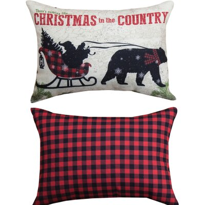 Country Christmas - Rect Lumbar Pillow