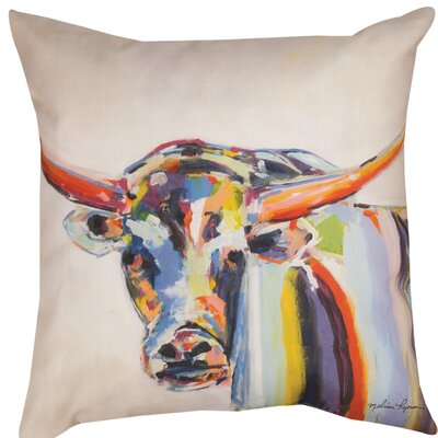 Longhorn Dye Throw Pillow