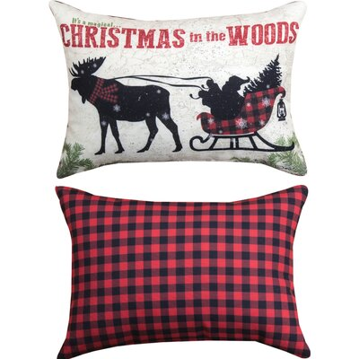 Country Christmas Lumbar Pillow