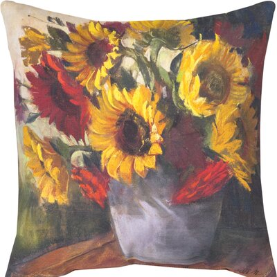 September Sunflowers Throw Pillow