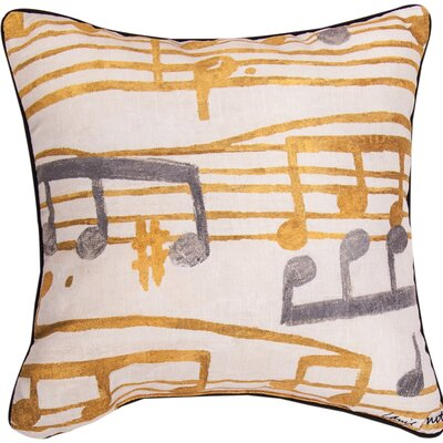 Music Stanzas II Throw Pillow