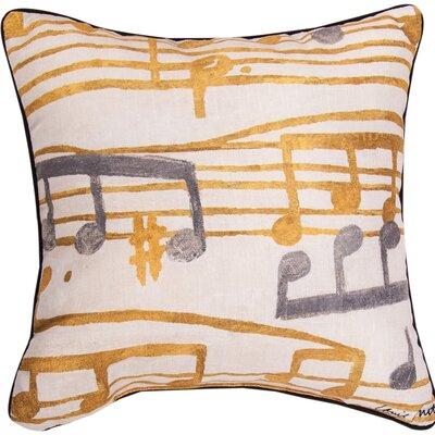 Music Stanzas II Throw Pillow