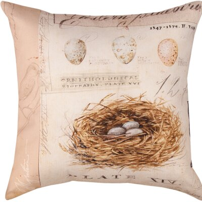 Natures Nest Throw Pillow