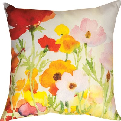 Betsys Ranunculus Throw Pillow