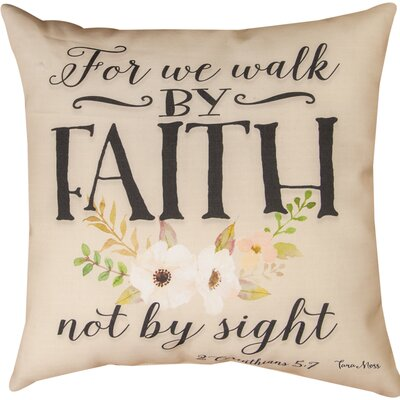 For We Walk Throw Pillow