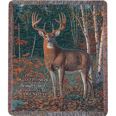 Autumn Sentinel Tapestry Cotton Throw