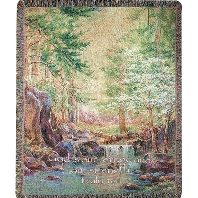 Natures Retreat with Verse Cotton Throw