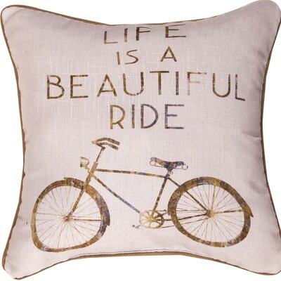 Life is a Beautiful Ride - Dye Throw Pillow