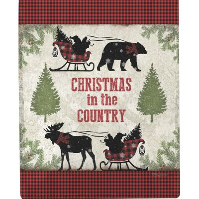 Country Christmas Dye Throw