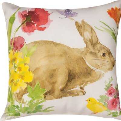 Collins Garden Bunny & Chick Throw Pillow